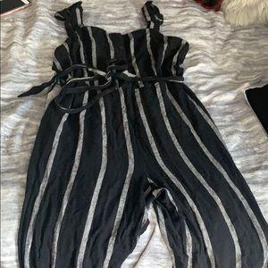Who What Wear Striped Romper